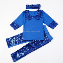 New fashion costumes china children boutique sequin ruffle clothes