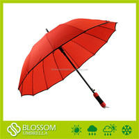 Factory best sell auto open straight red personalized golf umbrella