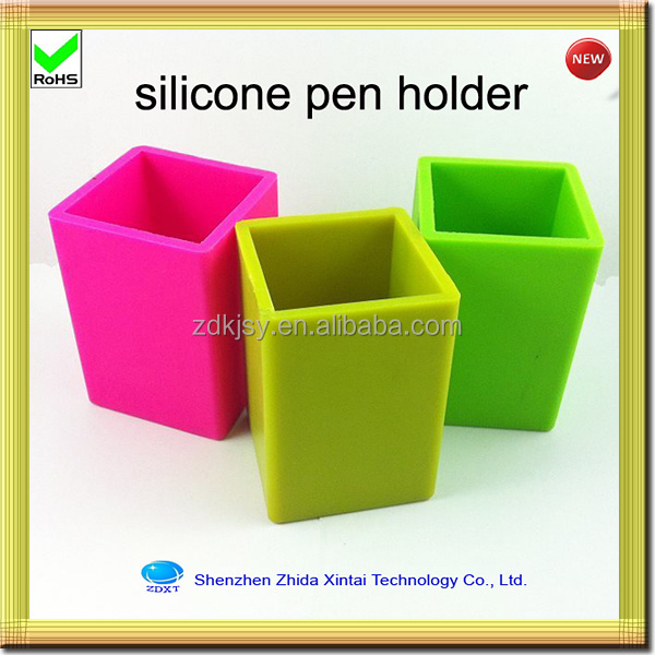 for promotion gift silicone magnetic pen holder