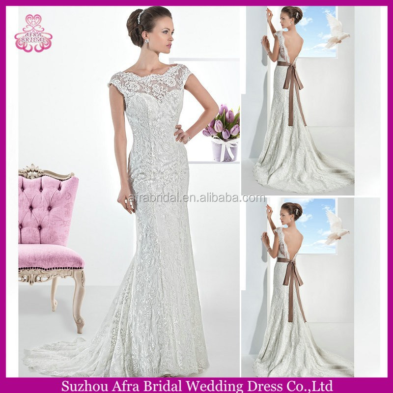 SD973 backless cap sleeve lace wedding dress philippines cheap-wedding-dresses-made-in-china