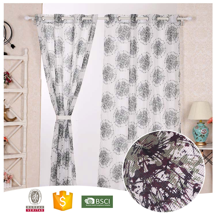 2016 Top Quality Window Use Dandelion Printing Curtain