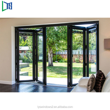 Aluminium Accordion Movable Door Aluminum Interior Frameless Folding Glass Doors