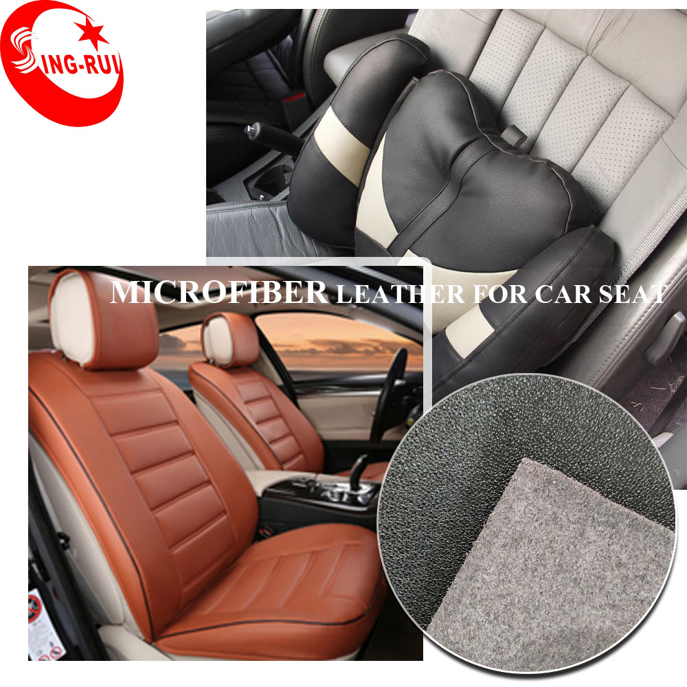 Excellent Abrasion-Resistant, Breathable, Anti-Aging, Anti-Mildew Feature PU Microfiber Leather for Car Seat Cover