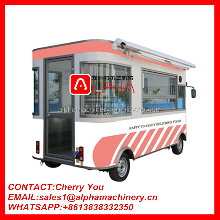 Electric food truck for sale/selling food truck/ food truck equipment