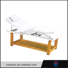 Foldable PVC/PU leather and wooden legs massage table portable