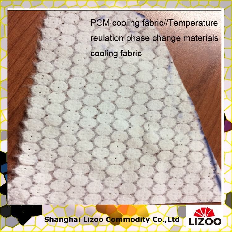 100% safety new product temperature sensitive pcm fabric
