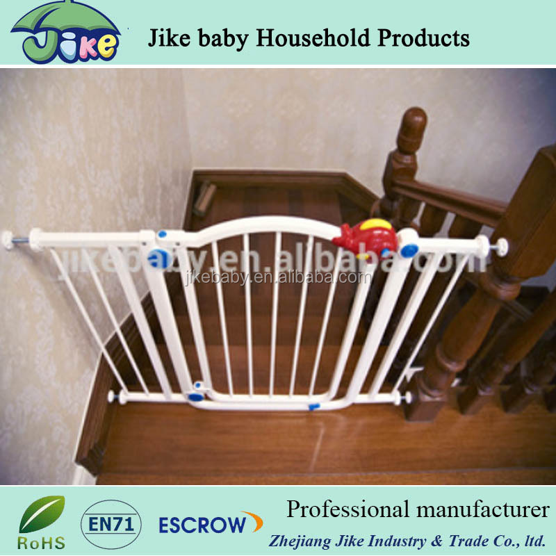 Auto Close adjustale baby playpen with gate baby stair gates pet friendly baby gate