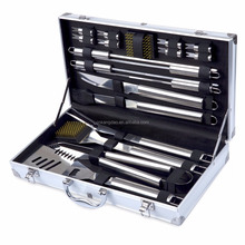 Outdoor Heavy Duty Stainless Steel BBQ Grill Tools Set with Premium Aluminum Case