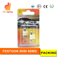 31mm 36mm 39 mm 41mm 6smd 5050 led festoon, 6smd auto led festoon Car LED Canbus