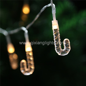 20 LED candy cane christmas decorative string light for holiday decoration