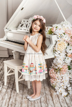 cheap new model summer children girl pageant Sleeveless dress