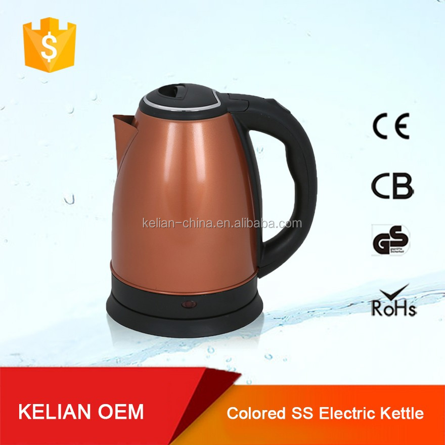 1.5 litre electrical stainless steel wide kettle