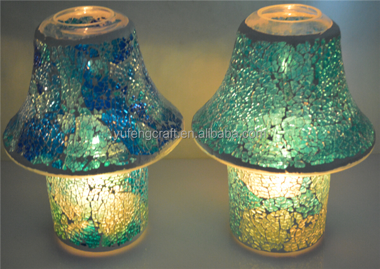 glass Mosaic shade and Mosaic candle holder