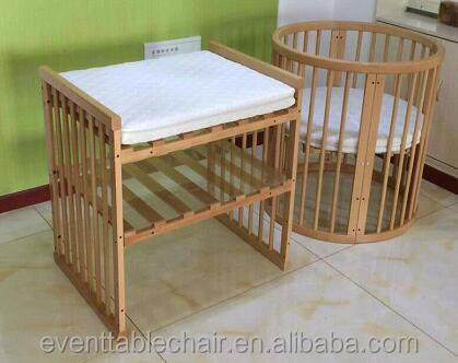 round 8 in 1 factory price convertible cribs adult baby crib