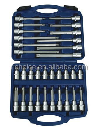 "32 pcs 1/2"" Dr. Ex-long Torx bits socket set"