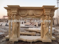 FS-49 classic english marble fireplace mantels