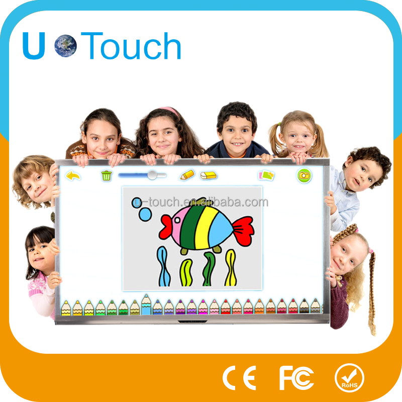 School use 55 interactive electronic display touch screen board
