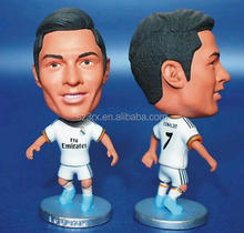 Make design football player plastic figures for sale/OEM plastic model figure football limited edition
