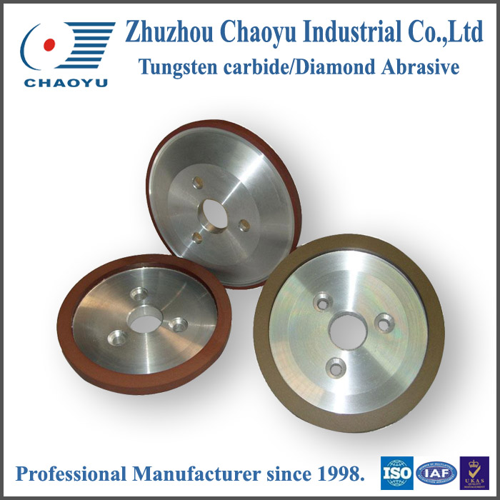 Dish shape single crystal corundum grinding diamond wheel