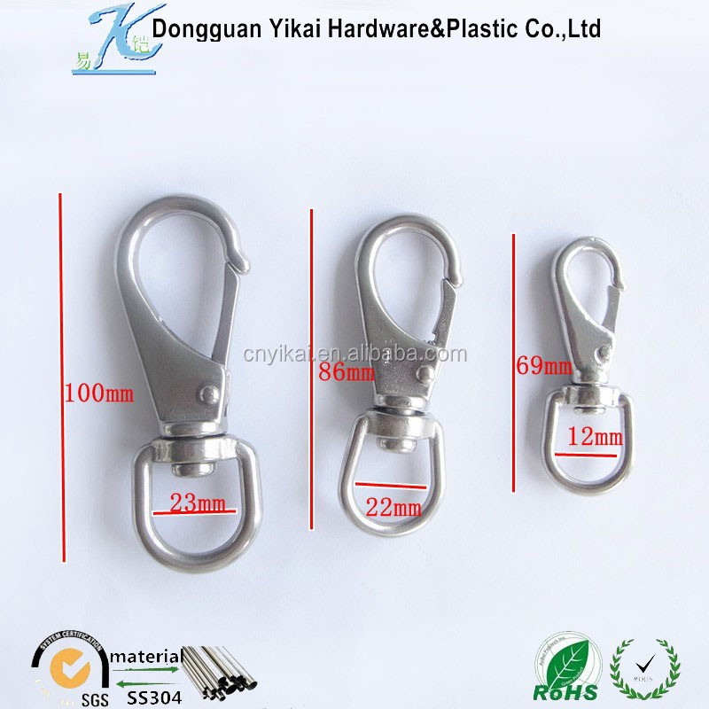 bulk sale swivel carabiner clips,stainless steel metal hooks key chain