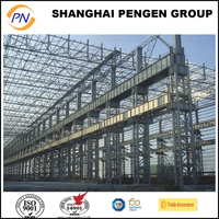 Prefabricated large span steel structure building