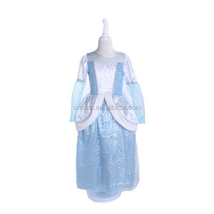 princess cinderella light blue skirt kids Halloween costume and cosplay for party supply