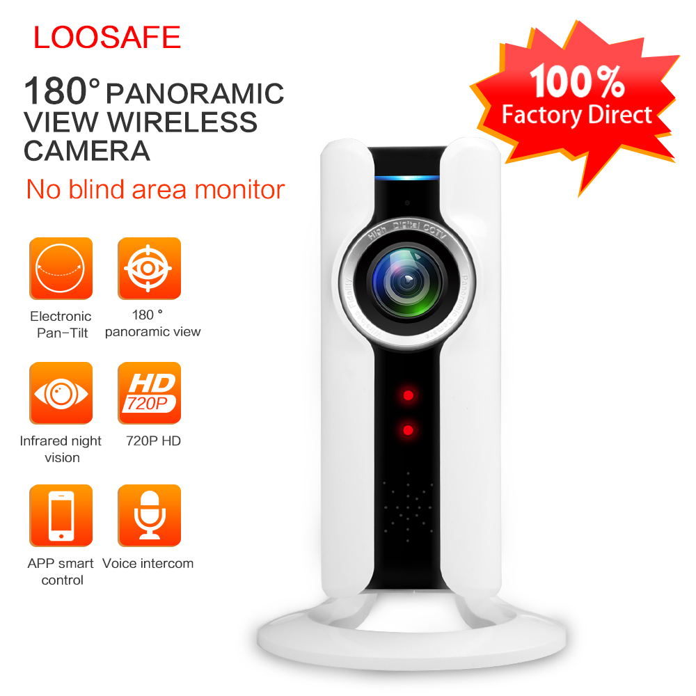 Loosafe Hotsale 180 degree WIFI fisheye camera wireless mini ip camera