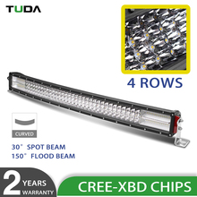 Automotive 4 Row 32 inch Curved Led Light Bar with Free Logo, High Power 564w Off Road Led Light Bar
