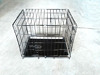 sliver color foldable folding wire dog crate cage cat carrier manufacturer