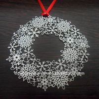 Etching Crafts Metal Christams Wreath