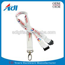 Free design factory custom sublimation keychain polyester lanyards