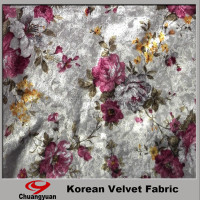 China Printting Polyester Lycra Velvet Designer Wedding Dress And Fabric Wholesale