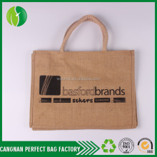Durable Eco Friendly 100% jute bag, jute shopping bag/jute tote bag