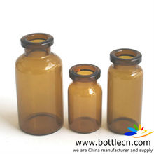 10ml sterile amber bottle glass vials medical jar D22 H50
