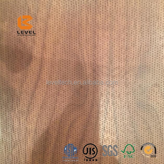 Micro Perforated Acoustic MDF Timber Wooden Panels Wall And Ceiling Tiles