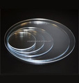Transparent Custom Made Lucite Lucite Ganache Plate Round Perspex Cake Board Clear Acrylic Cake Plate