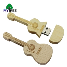 New model 128MB-64GB wooden guitar mini stick musical instrument flash drive USB disk
