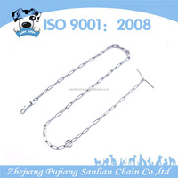Wholesale low price metal long link dog chain dog training collar dog chain
