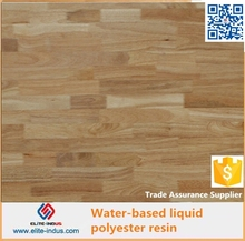 Liquid transparent polyester resin