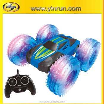2.4G Plastic Material remote control car,with LED wheels