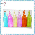 swing top colored glass bottle with clip lid