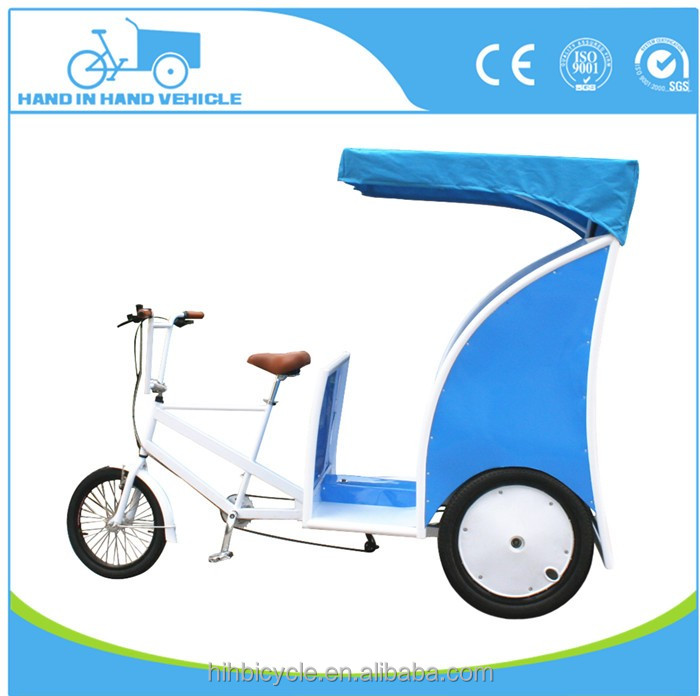 Deluxe cycling rickshaw pedicab bicycle battery power rickshaw factory sale