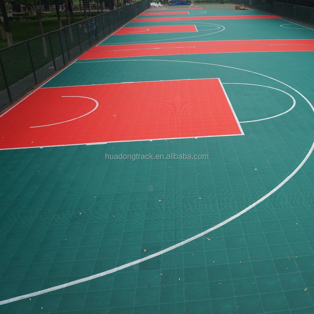 used removable suspended volleyball sport court flooring