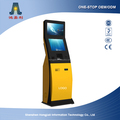 Custom design dual touch screen kiosk with advertising monitor