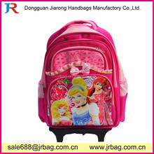 Pink Trolley School Bags Backpack with glowing wheels