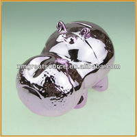 hotsale hippo shape ceramic coin bank money box