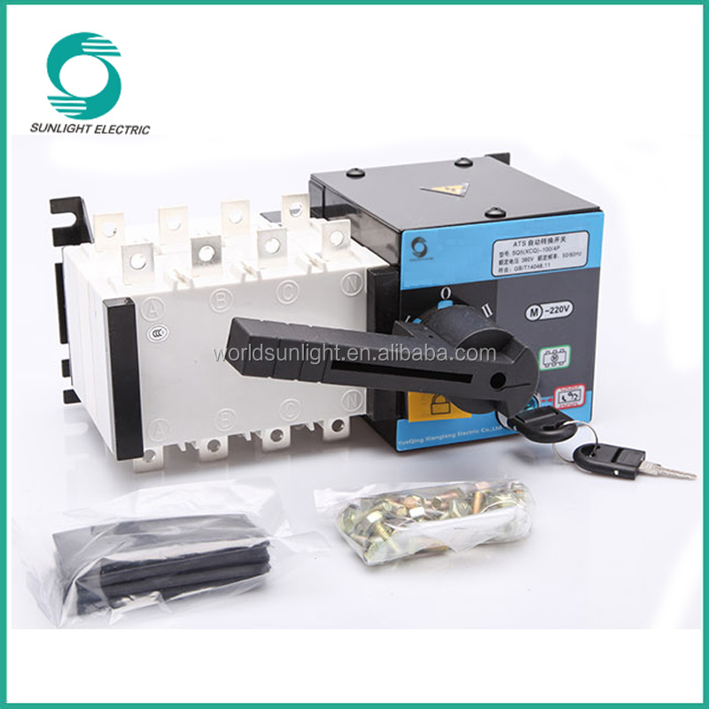 IEC, CCC, CE 3P 4P 100A dual power Automatic Transfer Switch