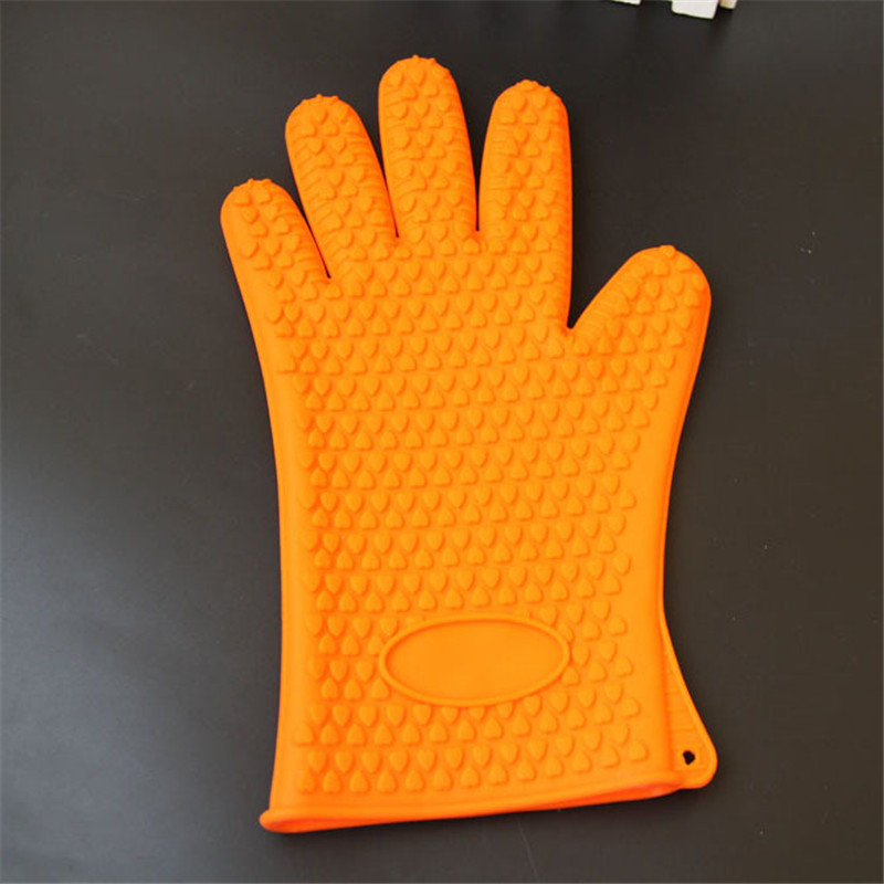 2016 safety work kitchen silicone oven gloves with fingers