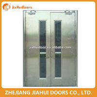 2016 commercial fire proof door rockwool/perlite filling material with glass insert