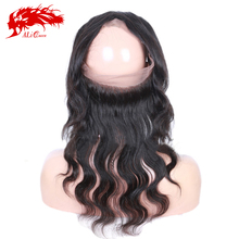 cheap wholesale Brazilian virgin hair body wave human hair 360 lace frontal wig